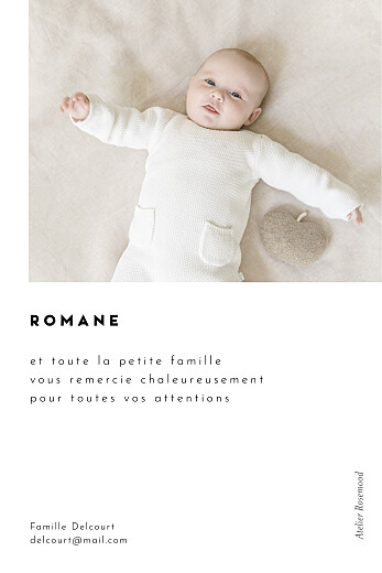 Carte de remerciement Cartouche blanc - Page 2