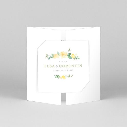Faire-part de mariage Jardin anglais (fenêtre) vert - Vue 1