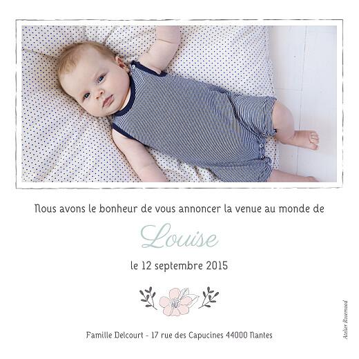 Faire-part de naissance Couronne de fleurs photo vert pâle - Page 2
