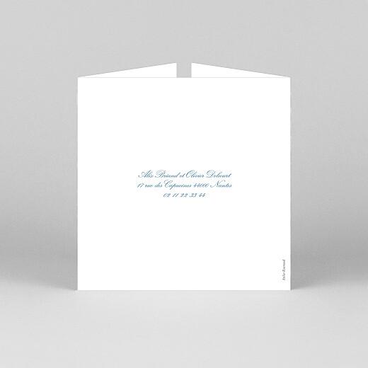 Faire-part de mariage Chic liseré (fenêtre) bleu - Vue 3