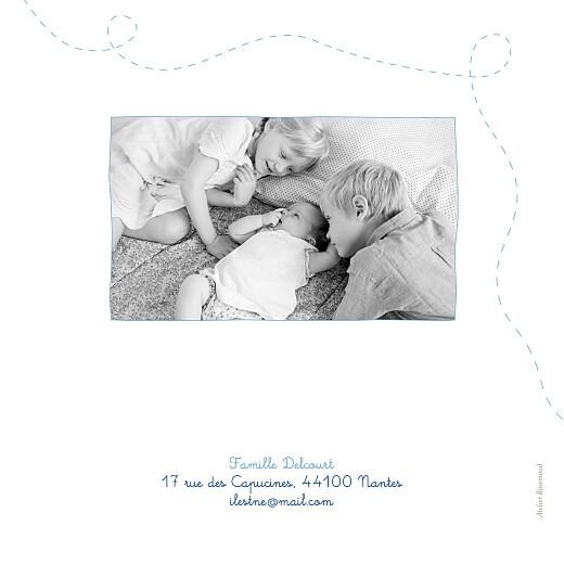 Faire-part de naissance Origami papillon 5 photos bleu - Page 4