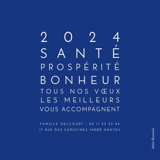 Carte de voeux Mini the photo ! justifié bleu électrique - Page 2