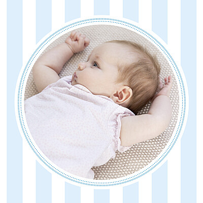 Carte de remerciement Petites douceurs photo bleu finition