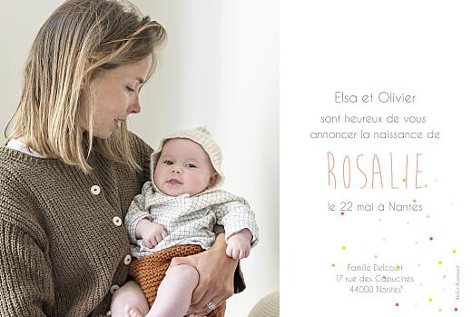 Faire-part de naissance Lovely girl photo blanc - Page 2