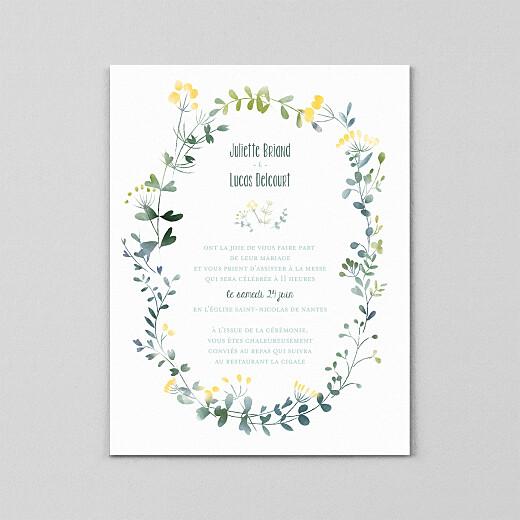 Faire-part de mariage Bouquet sauvage (calque) jaune - Vue 2