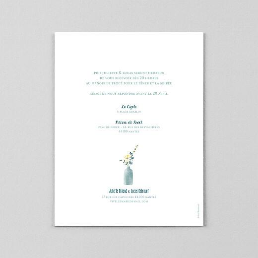 Faire-part de mariage Bouquet sauvage (calque) jaune - Vue 3