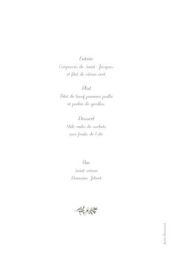 Menu de baptême Douce lueur blanc - Page 2