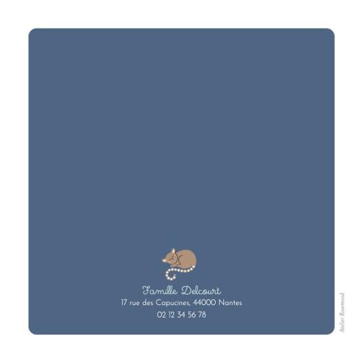 Faire-part de naissance La famille des animaux bleu - Page 4