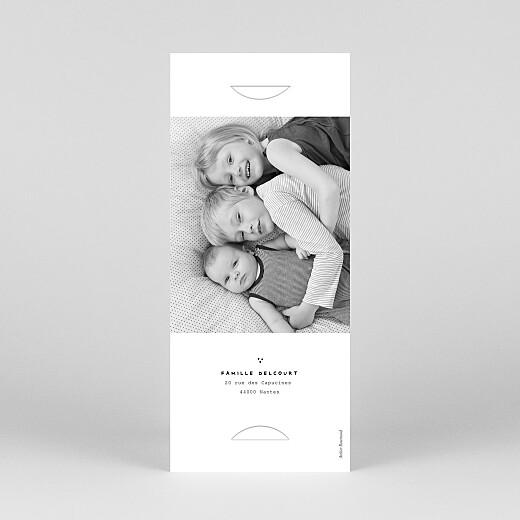 Faire-part de naissance Ma famille et moi 2 enfants (marque-page) blanc - Vue 4