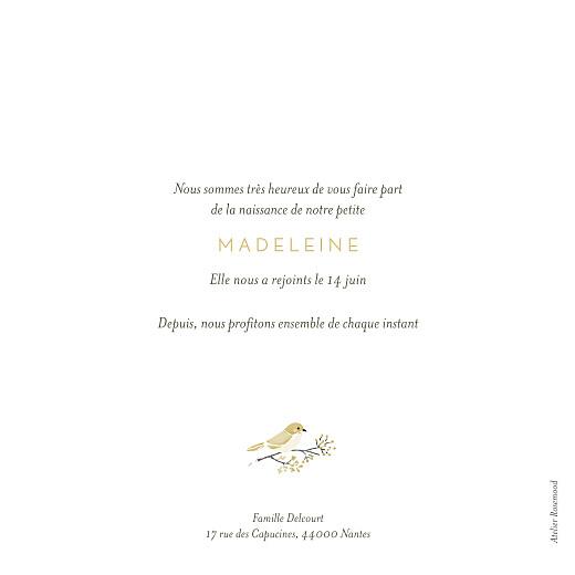 Faire-part de naissance Mon petit trousseau beige - Page 2