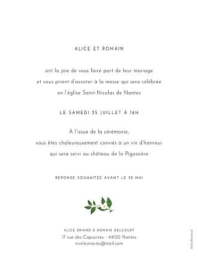 Faire-part de mariage Lettres fleuries (portrait) blanc - Page 2