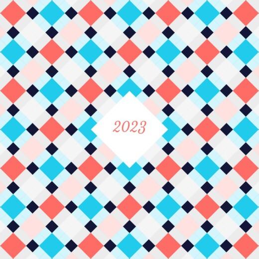 Carte de voeux Paddington bleu corail