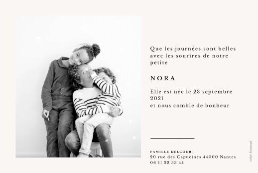 Faire-part de naissance Jeune pousse (dorure) beige - Page 2