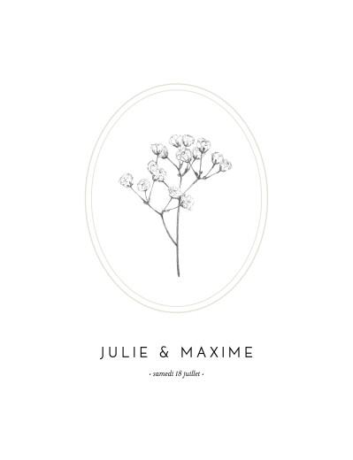 Faire-part de mariage Joli brin (portrait) beige