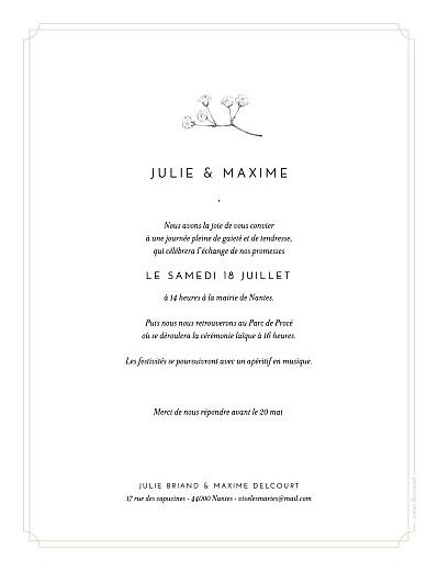 Faire-part de mariage Joli brin (portrait) beige - Page 2