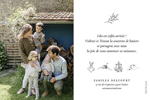 Faire-part de naissance Petite gravure blanc - Page 2