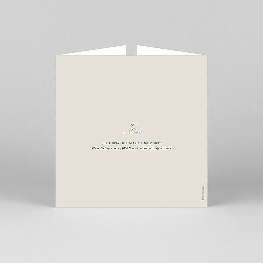 Faire-part de mariage Joli brin (fenêtre) beige - Vue 3