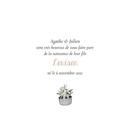 Faire-part de naissance Berceau fleuri (4 pages) rose - Page 3