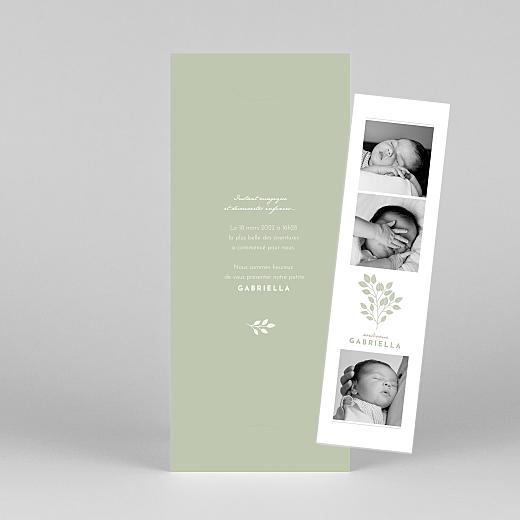 Faire-part de naissance Signature végétale (marque-page) vert - Vue 1