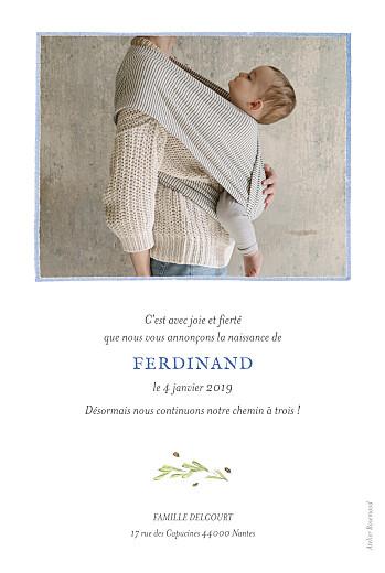 Faire-part de naissance Renard aquarelle photo rv bleu - Page 2
