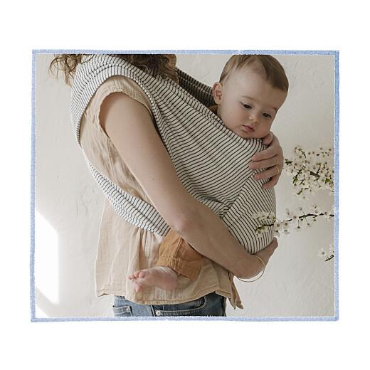 Faire-part de naissance Renard aquarelle photo bleu - Page 2
