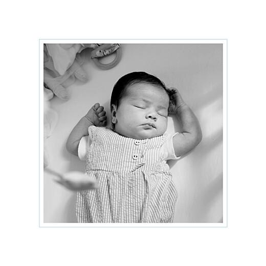 Faire-part de naissance Comptine 4 photos triptyque bleu - Page 4