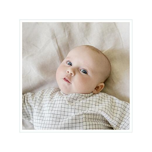 Faire-part de naissance Comptine photo 4 pages bleu - Page 2