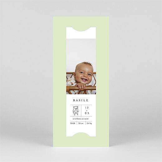 Faire-part de naissance Étiquette illustrée (marque-page) vert - Vue 2