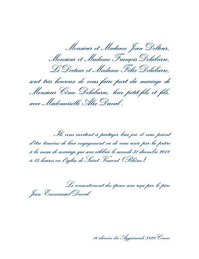 Faire-part de mariage Traditionnel (grand format) blanc - Page 3