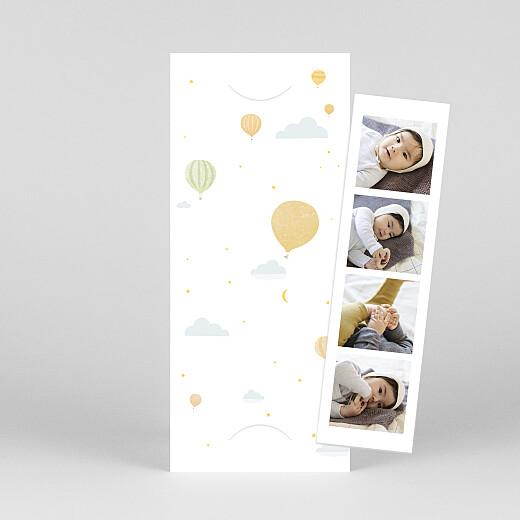 Faire-part de naissance Petites montgolfières (marque-page) jaune - Vue 1
