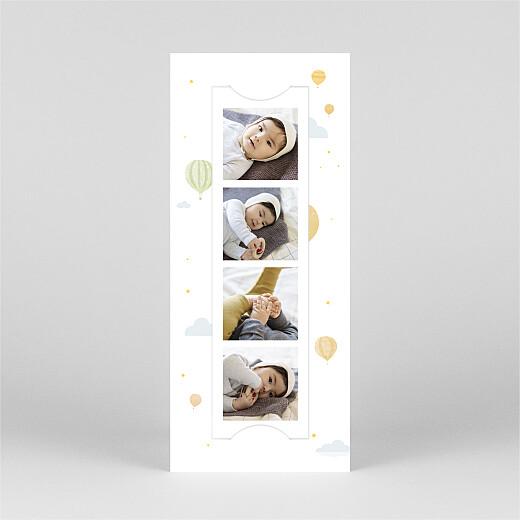 Faire-part de naissance Petites montgolfières (marque-page) jaune - Vue 2