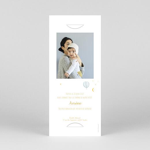 Faire-part de naissance Petites montgolfières (marque-page) jaune - Vue 4