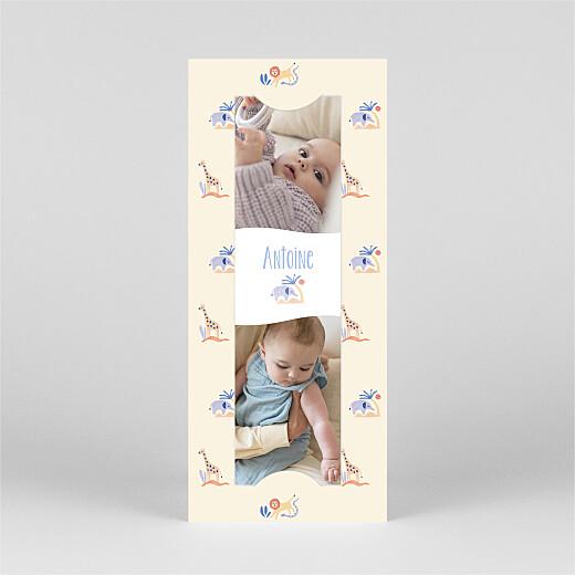 Faire-part de naissance Douce savane (marque-page) beige - Vue 2