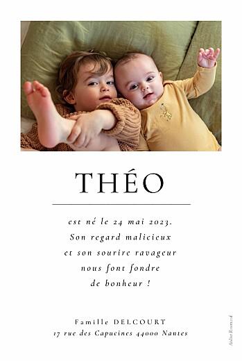 Faire-part de naissance Précieux moments (4 photos) blanc - Page 2