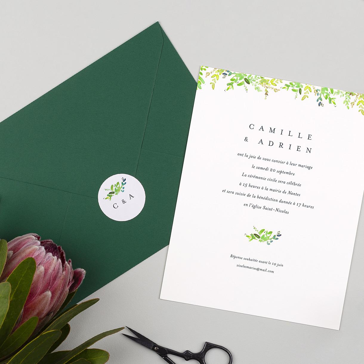 Stickers pour enveloppes mariage canopée