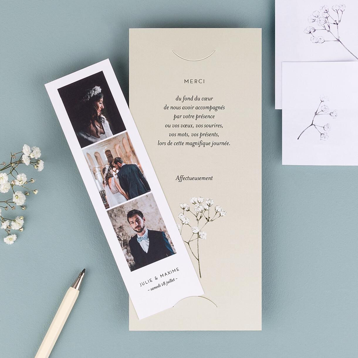 Carte de remerciement mariage joli brin