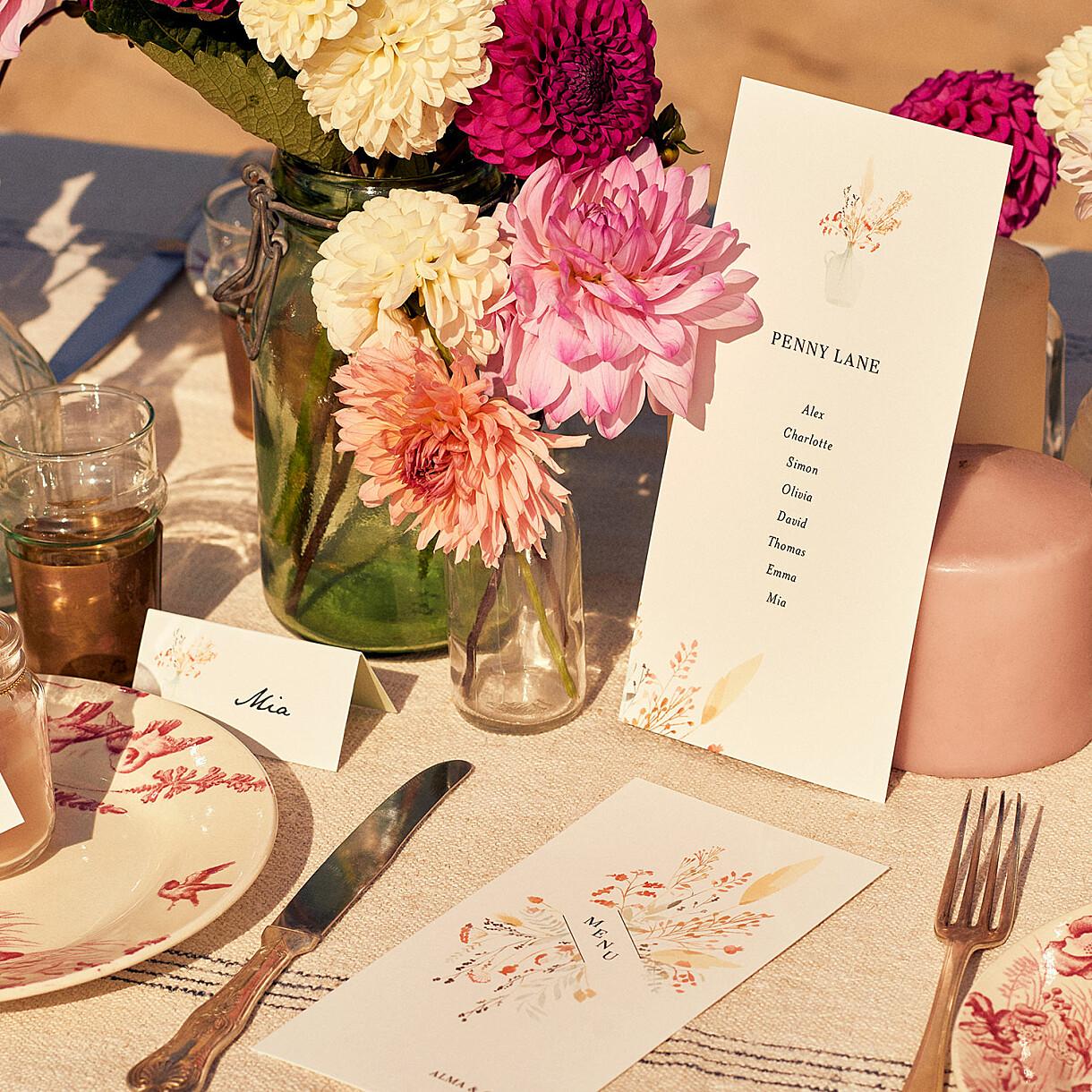 Marque-table mariage solstice d'été