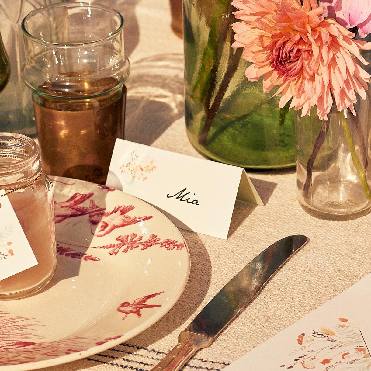Marque-place mariage solstice d'été